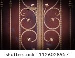 wrought iron gates  ornamental... | Shutterstock . vector #1126028957