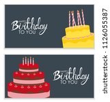 happy birthday poster... | Shutterstock . vector #1126055387
