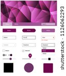 dark pink vector wireframe kit...