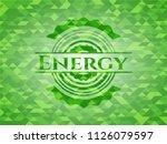 energy green mosaic emblem | Shutterstock .eps vector #1126079597