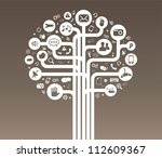 social media tree white | Shutterstock .eps vector #112609367