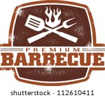 Vintage Premium Barbecue/BBQ Graphic - stock vector