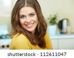 portrait of young smiling woman ... | Shutterstock . vector #112611047