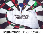 success agreement contract on...   Shutterstock . vector #1126115903