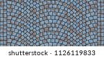 cobblestone arched pavement... | Shutterstock . vector #1126119833