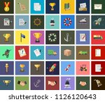 vector delivery icons set.... | Shutterstock .eps vector #1126120643