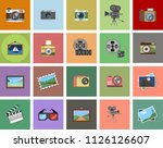 camera icons set isolated....