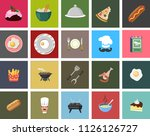cooking set   vector icons.... | Shutterstock .eps vector #1126126727