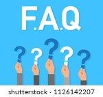 faq. flat design concept for...   Shutterstock .eps vector #1126142207
