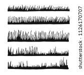 vector silhouette grass. lawn... | Shutterstock .eps vector #1126170707