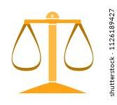 balance scale icon  balance... | Shutterstock .eps vector #1126189427
