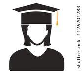 vector graduates student  ... | Shutterstock .eps vector #1126201283