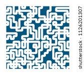 vector maze abstract   puzzle... | Shutterstock .eps vector #1126201307