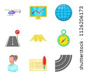 shipment icons set. cartoon set ... | Shutterstock . vector #1126206173