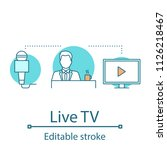 live tv concept icon. news...   Shutterstock .eps vector #1126218467
