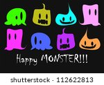 happy monster | Shutterstock .eps vector #112622813