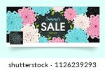summer sale cover and banner.... | Shutterstock .eps vector #1126239293