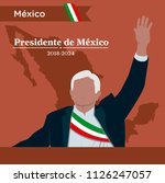 mexico elections 2018  ... | Shutterstock .eps vector #1126247057