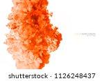 closeup of a colorful orange...   Shutterstock . vector #1126248437