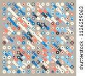 generative random pattern art... | Shutterstock .eps vector #1126259063