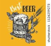 vintage craft beer poster... | Shutterstock .eps vector #1126259273