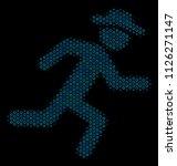 halftone running gentleman...   Shutterstock .eps vector #1126271147