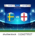 sweden vs england scoreboard...   Shutterstock .eps vector #1126275527