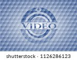 video blue emblem with... | Shutterstock .eps vector #1126286123