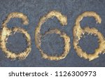 number 666 called the number of ... | Shutterstock . vector #1126300973