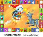 the happy christmas scene  ... | Shutterstock . vector #112630367