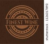 finest wine wood emblem.... | Shutterstock .eps vector #1126317893