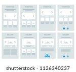 vector editable stroke lines...   Shutterstock .eps vector #1126340237