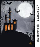 halloween background with... | Shutterstock .eps vector #112636127