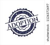 blue adoption grunge stamp | Shutterstock .eps vector #1126372697