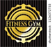 fitness gym gold shiny badge | Shutterstock .eps vector #1126372733