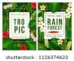 summer tropical beach vacation... | Shutterstock .eps vector #1126374623