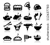 food  type icons | Shutterstock .eps vector #112637783