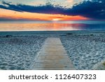 Coastal Landscape With Wooden...