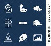 premium set of outline  fill... | Shutterstock .eps vector #1126437107