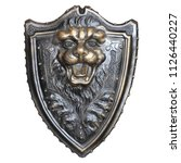 shield with lion head isolated...   Shutterstock . vector #1126440227