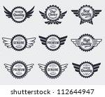quality premium label badges  ... | Shutterstock .eps vector #112644947