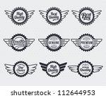 quality premium label badges  ... | Shutterstock .eps vector #112644953
