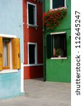 venice  burano  colourful houses | Shutterstock . vector #112645247