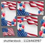 american patriotic festive... | Shutterstock .eps vector #1126463987