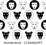 vector black and white seamless ... | Shutterstock .eps vector #1126466357
