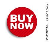 red circle banner element buy...   Shutterstock .eps vector #1126467617