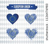 european union heart with flag... | Shutterstock .eps vector #1126476983