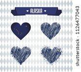alaska collection of four... | Shutterstock .eps vector #1126477043