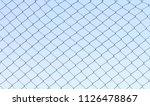 simple old metal fence in rural ...   Shutterstock . vector #1126478867