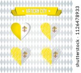 vatican city heart with flag... | Shutterstock .eps vector #1126478933